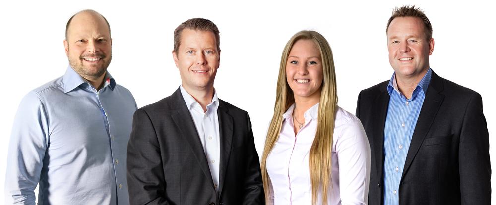 Vi hjälper dig med teknisk support: Johan Nilsson, Mikael Törnberg, Emma Gårdestam och Mats Gårdestam.