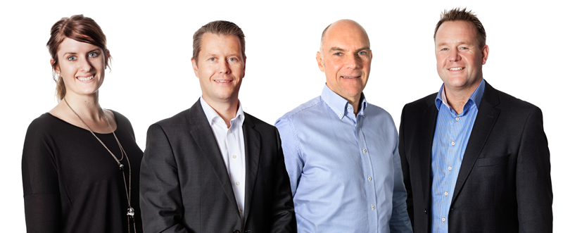 Vi hjälper dig med teknisk support: Emelie Bengtsson, Mikael Törnberg, Ulf Persson och Mats Gårdestam.