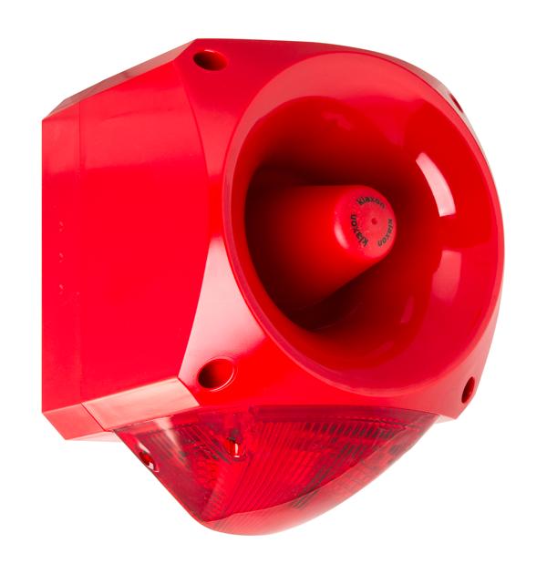 Extremt kraftig siren/blixtljus för bullriga miljöer