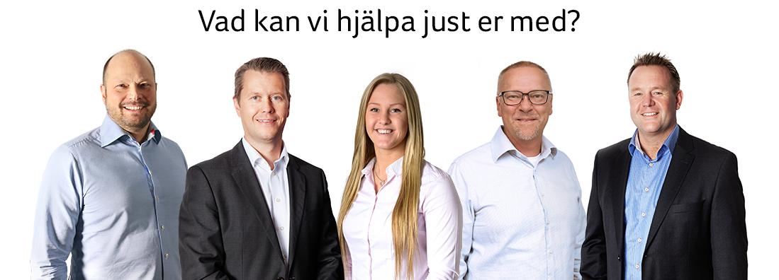 Vi hjälper dig med teknisk support: Johan Nilsson, Mikael Törnberg, Emma Gårdestam, Mikael Eriksson och Mats Gårdestam.