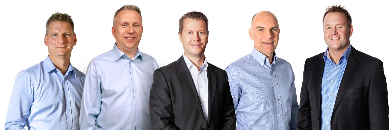 Vi hjälper dig med teknisk support: Mats Florens, Andreas Palmér, Mikael Törnberg, Ulf Persson och Mats Gårdestam.