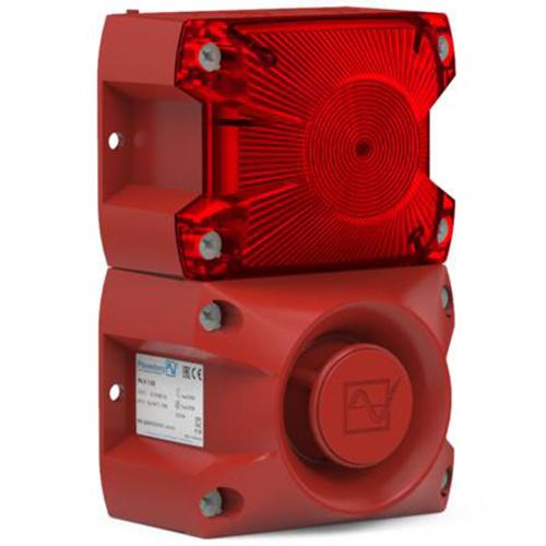 Kombinerad siren/blixtljus 105 dB(A) / 5 J